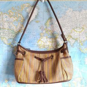 Relic Vintage Purse Woven Leather Handbag